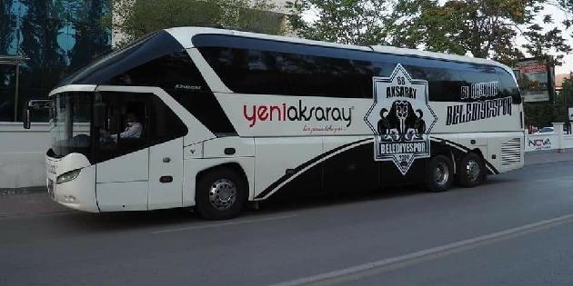 Aksarayspor takım otobüsüne kavuştu!