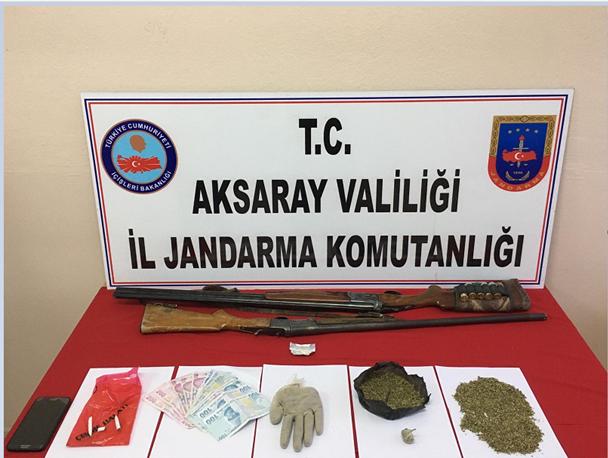 Aksaray'da uyuşturucu imal ve ticareti yapan 2 kişi yakalandı