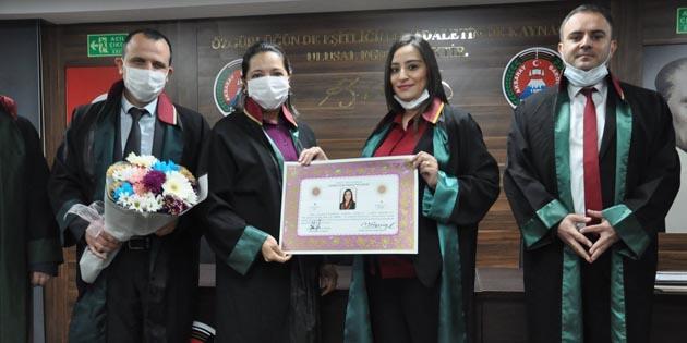 Aksaray Barosu'na 7 yeni avukat daha katıldı