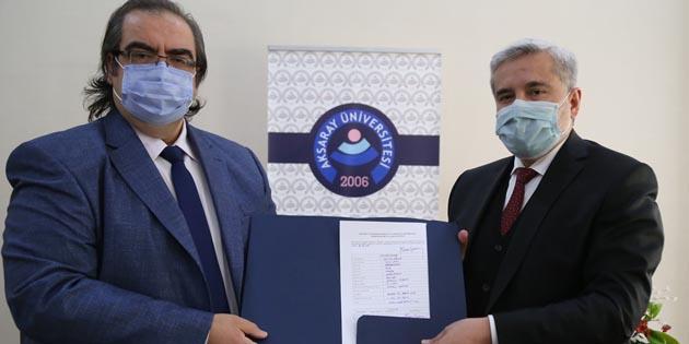 Rektör Şahin, ASÜMED'üye oldu