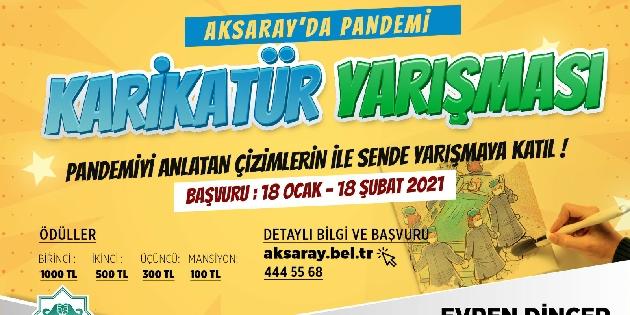 Aksaray Belediyesi'nden ödüllü karikatür yarışması