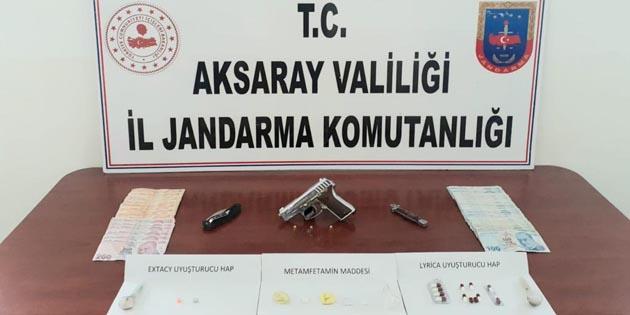 Aksaray'da jandarmadan uyuşturucu operasyonu