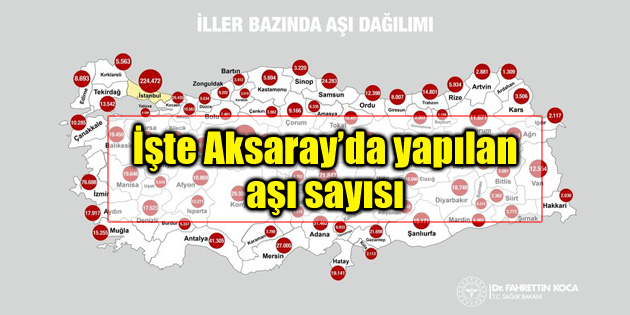 Bakan Koca haritayı paylaştı! İşte Aksaray'da aşı olanların sayısı