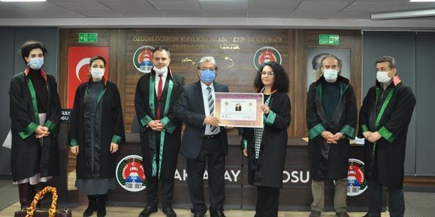 Aksaray Barosu'na 2 yeni avukat daha katıldı
