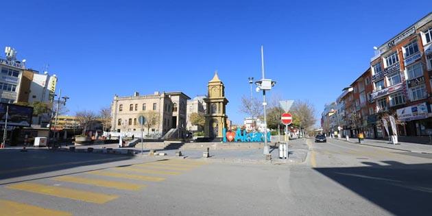 Aksaray'da 2021 yılının ilk gününde kısıtlamaya uyuldu