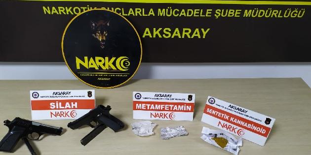 Aksaray'da uyuşturucu ve silah operasyonu: 1 tutuklama