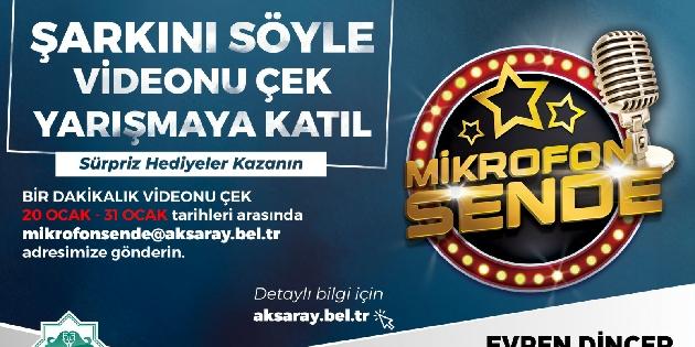 Aksaray Belediyesi'nden Mikrofon Sende adlı ses yarışması