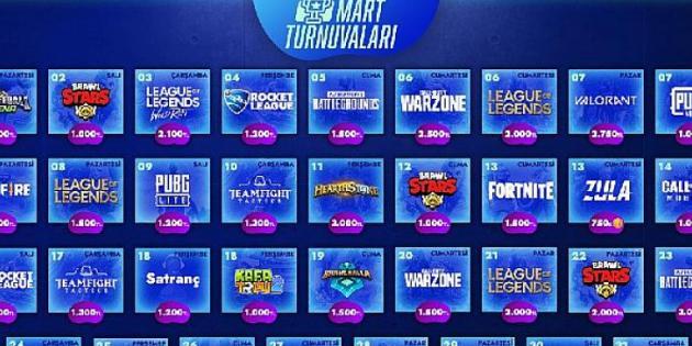 55.000 TL'lik ödül havuzu ile Gamify Mart 2021 turnuva takvimi açıklandı!