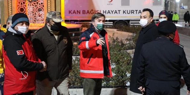 Aksaray Valisi Hamza Aydoğdu Covid-19 denetiminde