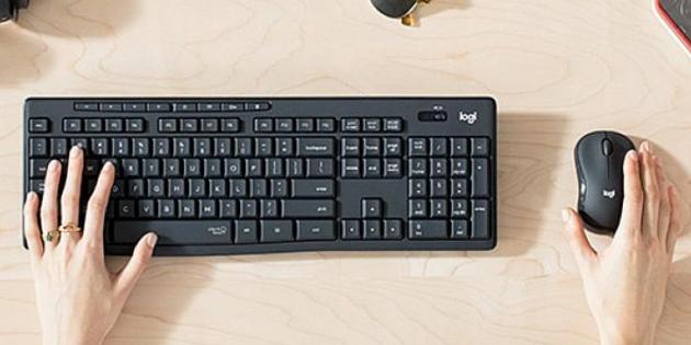Patentli ''Sessiz Tıklama'' teknolojisine sahip Yeni Logitech MK295 Sessiz Kablosuz Klavye & Mouse Seti
