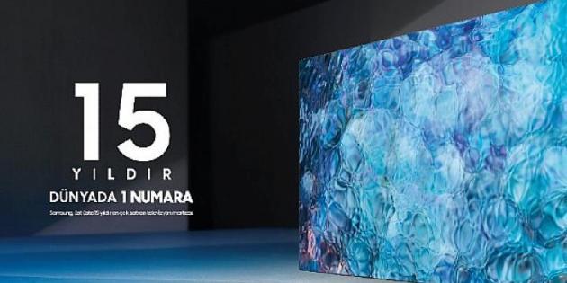 Samsung'un 15 yıldır dünyada 1 numaralı TV üreticisi olduğu açıklandı
