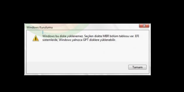 'Windows Bu Diske Yüklenemez' Hatası Nasıl Çözülür?