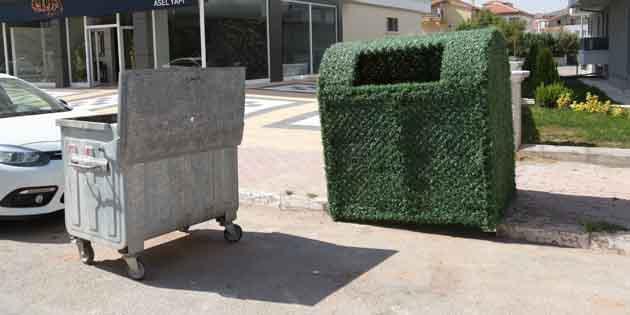 Aksaray'da çöp konteynırları estetik hale getiriliyor