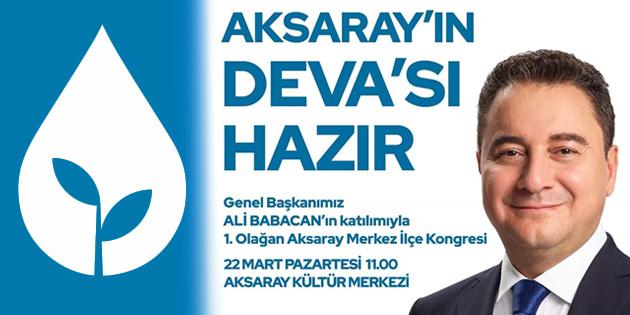 Ali Babacan, Merkez ilçe kongresi için Aksaray'a geliyor