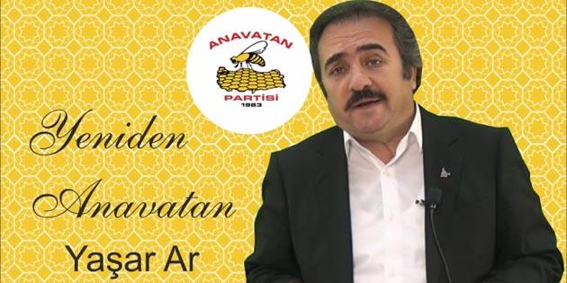 Anavatan Partisi Aksaray İl Başkanlığına Yaşar Ar getirildi