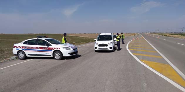 Aksaray'da jandarmadan radarla hız denetimi