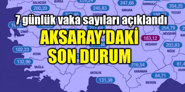 Aksaray'daki vaka sayısı açıklandı! Güncel harita paylaşıldı
