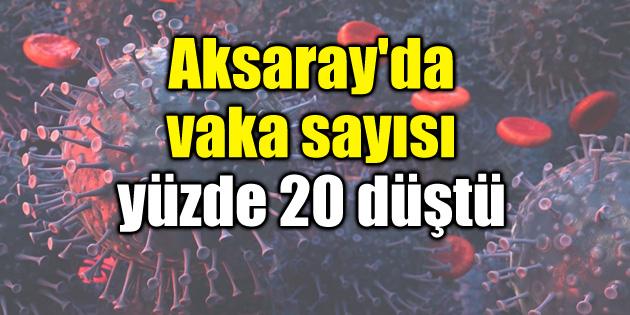 Aksaray'da vaka sayısı yüzde 20 düştü