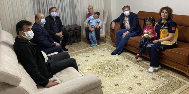 Vali Aydoğdu'dan özel çocuk Burak ve ailesine özür ziyareti