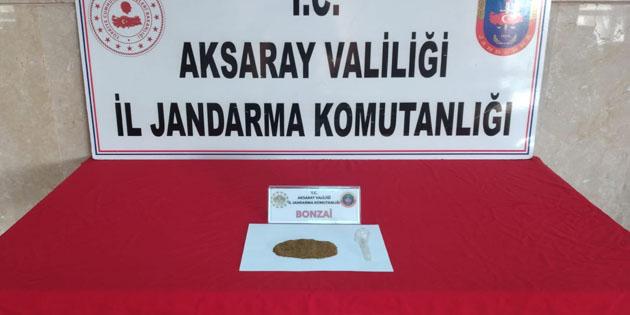 Aksaray'da yol kontrolünde uyuşturucu yakalandı