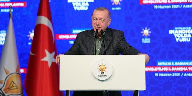 Erdoğan'dan vekillere uyarı! Birbirinizin aleyhinde konuşmayın