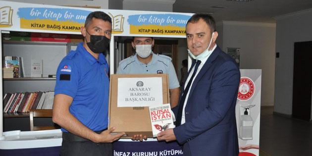 Aksaray Barosu'ndan kitap bağış kampanyasına destek