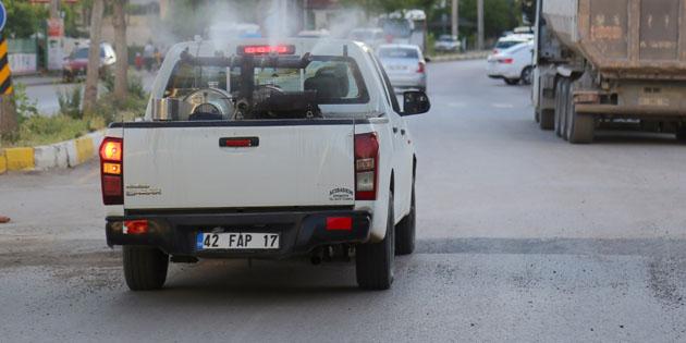 Aksaray'da ilaçlama seferberliği devam ediyor
