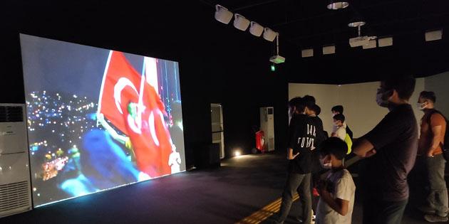 15 Temmuz Zaferi Dijital Gösterim Merkezi'nde yaşatılıyor
