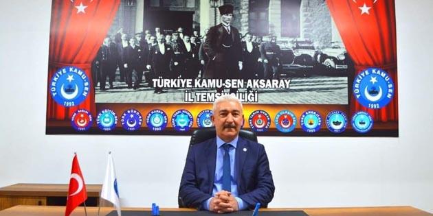 Aksaray Kamu-Sen temsilciliğinden 'Toplu Sözleşme' açıklaması