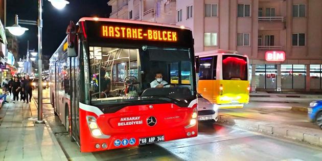 Belediye Halk Otobüsleri sabah 05.30'da hizmet vermeye başladı