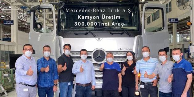 Aksaray Kamyon Fabrikası'nın 300 bininci kamyonu banttan indi
