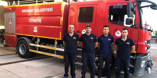 Aksaray'dan orman yangınlarına araç ve ekipman desteği