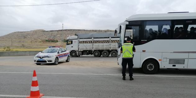 Aksaray'da yolcu otobüslerine sıkı denetim