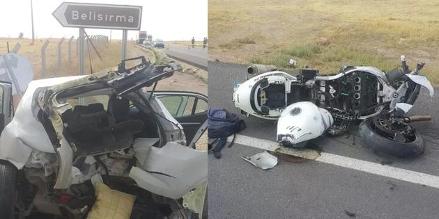 Motosiklet kazasında 1 kişi öldü, 5 kişi yaralandı
