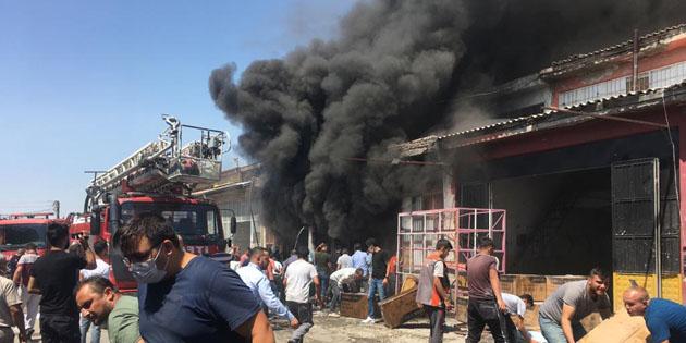 Aksaray Sanayi Sitesi'nde korkutan yangın