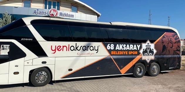 Aksaray Belediye Spor'un yeni otobüsü giydirildi