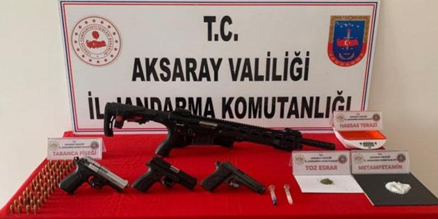 Aksaray'da uyuşturucu taciri 3 şahıs yakalandı