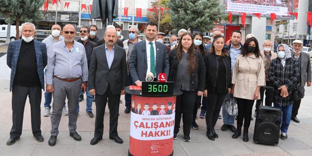 CHP Aksaray'dan 3600 ek gösterge tepkisi