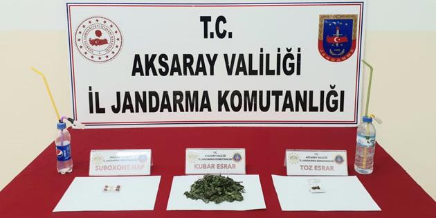Aksaray'da uyuşturucu madde ticareti yapan 2 kişi yakalandı!