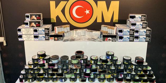 Aksaray'da kaçak tütün satışı yapan 2 kişi yakalandı
