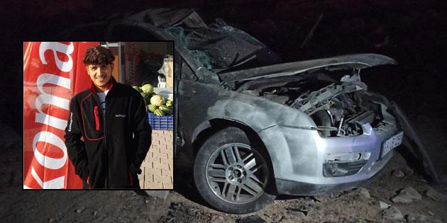 Eskil'deki kazada 19 yaşındaki genç hayatını kaybetti