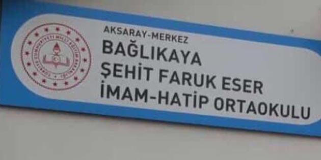 Şehit Faruk Eser'in ismi mezun olduğu okulda yaşayacak