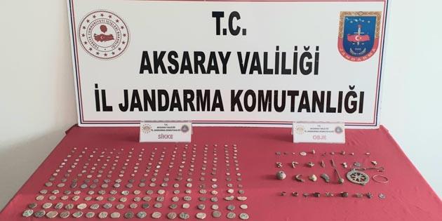 Aksaray'da tarihi eser kaçakçılığına suçüstü